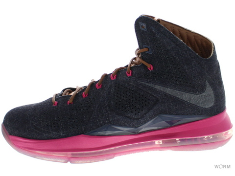 NIKE LEBRON X EXT DENIM QS 567806-400 mid navy/mid nvy-hzlnt-frbrry