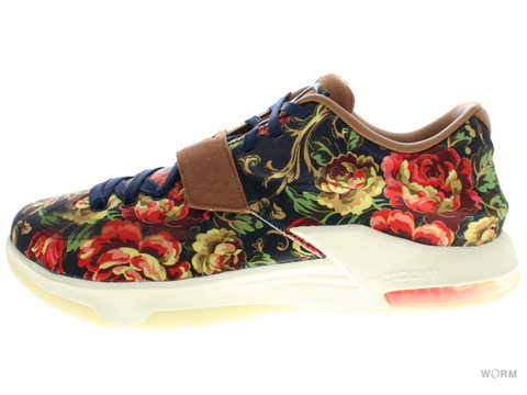 NIKE KD VII EXT FLORAL QS 726438-400 midnight navy/black-hazelnut