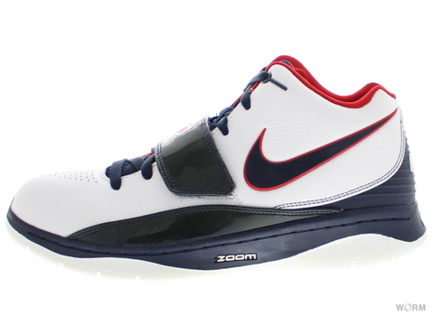 【US9】NIKE KD II SUPREME 398262-100 white/obsidian-sport red