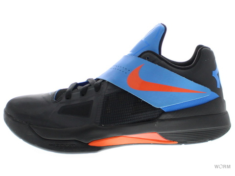 【US9.5】NIKE ZOOM KD IV 473679-001 black/team orange-photo blue