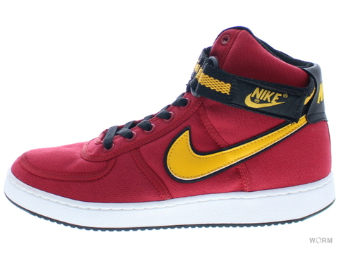 【US9】[SAMPLE]NIKE VANDAL HI CANVAS 308852-671 varsity red/del sol-black-wht