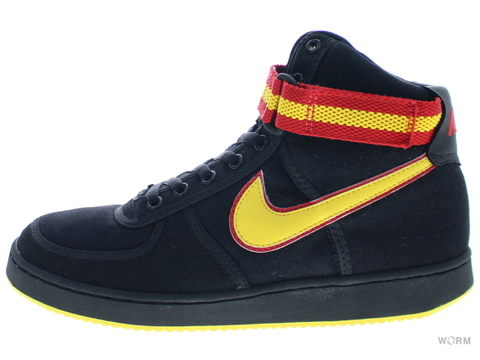 【US9】[SAMPLE]NIKE VANDAL HI CANVAS 306323-071 black/yellow zest-sport red