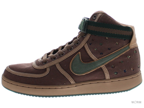 【US9.5】NIKE VANDAL SUPREME HI PREMIUM 307815-121 brq brown/od green-maplewood