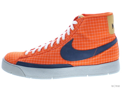 【US8】NIKE SUPER BLAZER HI PREMIUM 316382-841 orange blaze/obsidian-wheat
