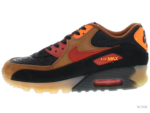 "NIKE AIR MAX 90 ICE HW QS ""HALLOWEEN"" 717942-006 black/team red-cognac-ttl orng"