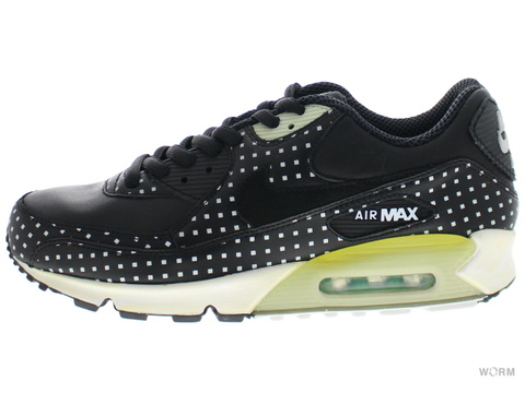 【US10.5】NIKE AIR MAX 90 PREMIUM+ 315908-001 black/black-azure-neutral grey