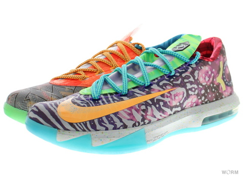 "NIKE KD VI PREMIUM ""WHAT THE KD"" 669809-500 hoop purple/urgent orange-shrk"