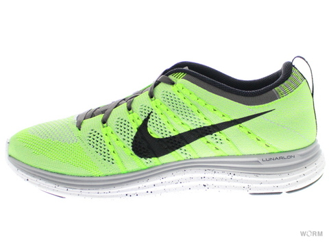 【US9.5】NIKE FLYKNIT ONE+ 554887-300 elctrc grn/blck-wlf gry-mdnght