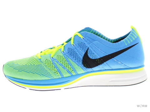 【US9.5】NIKE FLYKNIT TRAINER+ 532984-447 blue glow/blue tint-volt