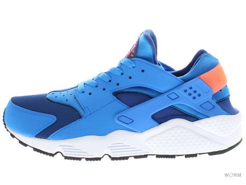 【US10.5】NIKE AIR HUARACHE 318429-402 gym blue/pht bl-brght mng-wht
