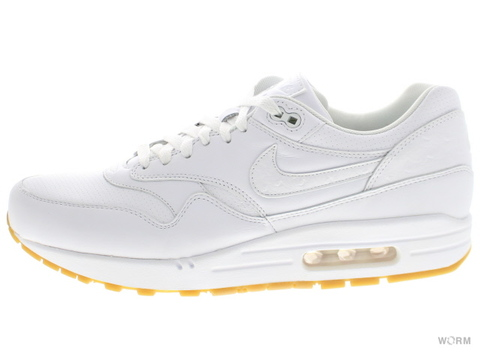 【US11】NIKE AIR MAX 1 LEATHER PA 705007-111 white/white-gum light brown