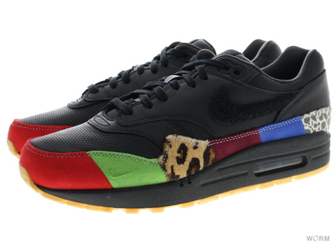 NIKE AIR MAX 1 MASTER 910772-001 black/black-university red