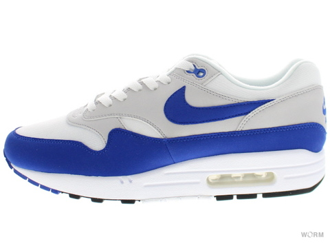 【US10】NIKE AIR MAX 1 ANNIVERSARY 908375-101 white/game royal-neutral grey