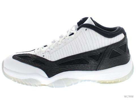 【US10】AIR JORDAN 11 RETRO LOW 306008-100 white/metallic silver-black