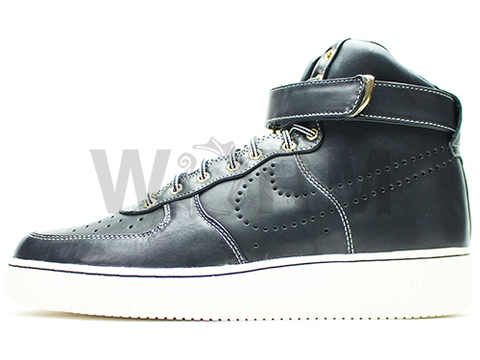 【US11.5】NIKE AIR FORCE 1 HIGH PREMIUM LE 386161-005 black/black-sail