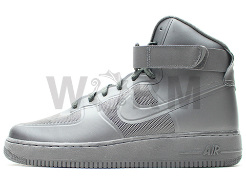 【US10】NIKE AIR FORCE 1 HI HYP PRM 454433-002 midnight fog/mid fog-mid fog
