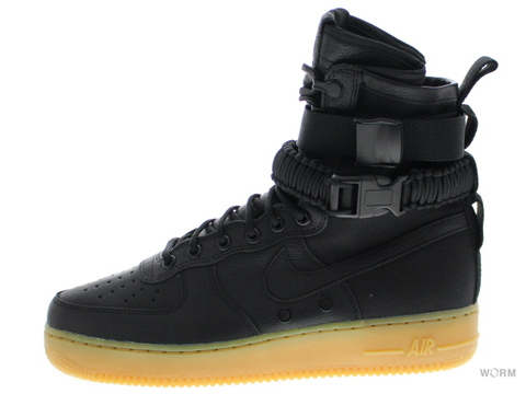 【US9】NIKE SF AF1 859202-009 black/black-gum light brown