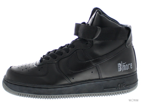 【US8.5】NIKE AIR FORCE 1 HIGH 624038-003 black/black-cool grey(b-more)