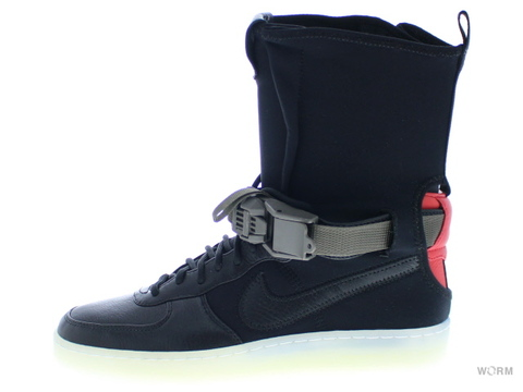 【US7.5】NIKE AF1 DOWNTOWN HI SP / ACRONYM 649941-006 black/black-bright crimson