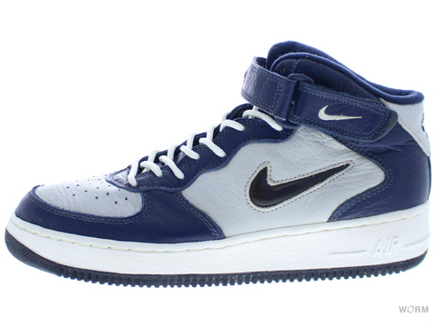 "【US10】NIKE AIR FORCE 1 MID ""1997"" 630136-041 light zen grey/mid navy-white"