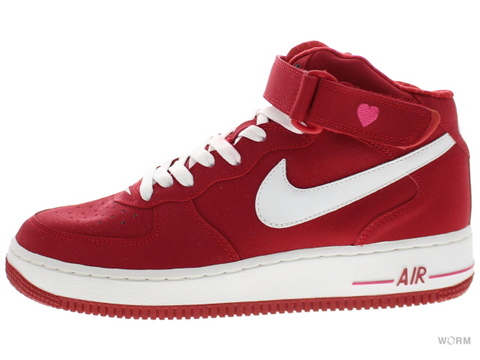NIKE WMNS AIR FORCE 1 MID 308915-611 varsity red/white(v-day)