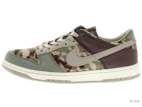 【US8.5】NIKE DUNK LOW LOW 307696-351 cl olive/chino-light choc-sail