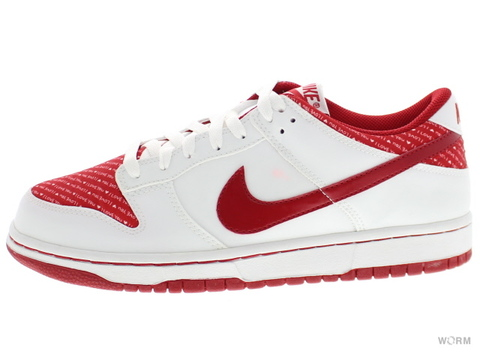【26.5cm】WMNS NIKE DUNK LOW 309324-166 white/varsity red
