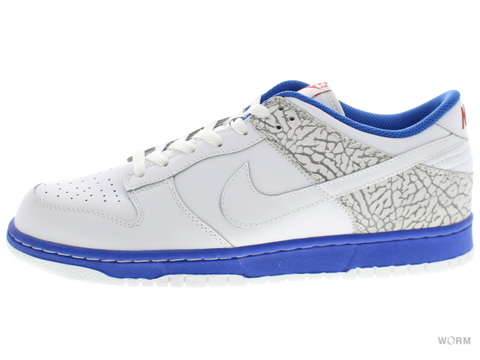 【US8】NIKE DUNK LOW CL 304714-119 white/white-medium grey