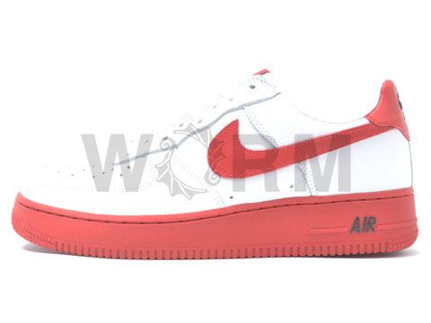 【US9】NIKE AIR FORCE 1 LOW 306353-163 white/red