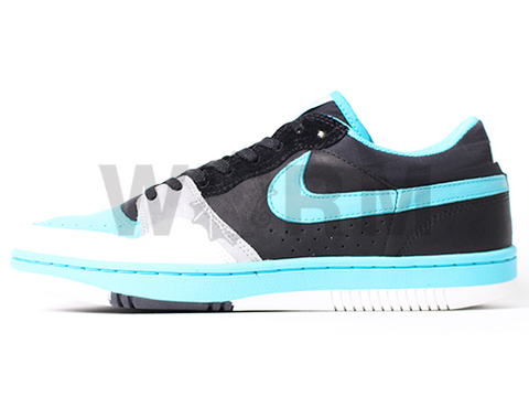 "【US11】NIKE COURT FORCE LOW ""STUSSY"" 314209-042 black/chlorine blue-white"