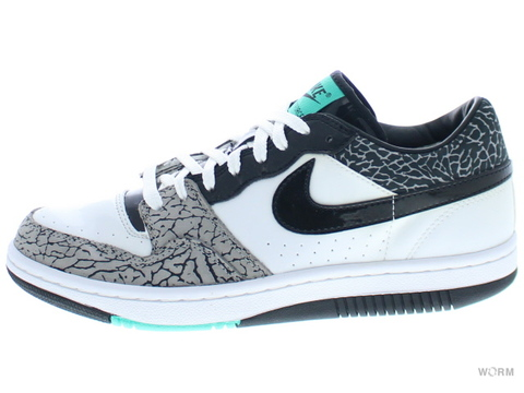 【US8】NIKE COURT FORCE PREMIUM 314428-101 white/black-medium grey