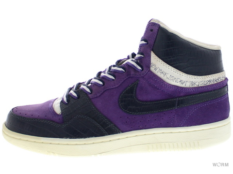 "NIKE COURT FORCE HI ""STUSSY"" 312270-542 varsity purple/dk obsidn-sail"