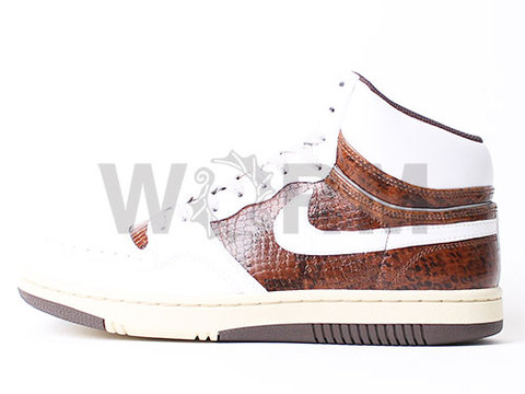 【US9.5】NIKE COURT FORCE HI PREMIUM 313941-112 white/white-baroque brown