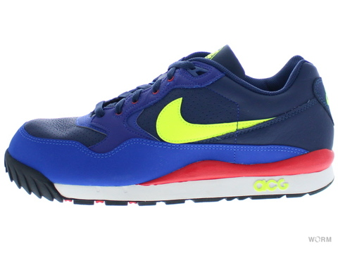 【US10.5】NIKE AIR WILDWOOD LE 377757-474 midnight navy/volt-dp ryl blue