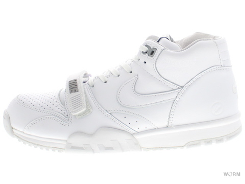 US9.5】NIKE AIR TRAINER 1 MID SP / FRAGMENT 806942-110 white/white-wolf grey