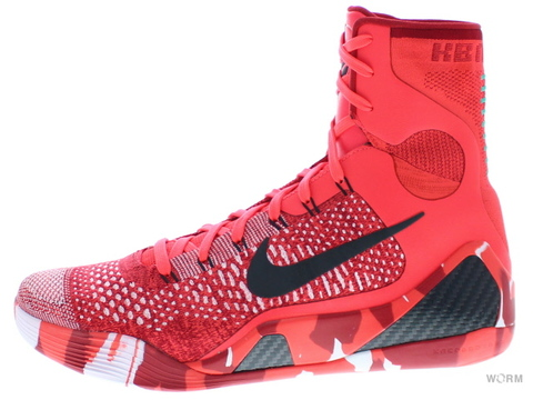 【US10.5】NIKE KOBE IX ELITE 630847-600 bright crimson/black-white