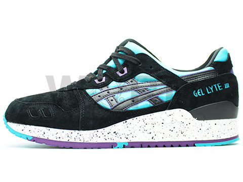 【US10】ASICS GEL-LYTE III h642l-4390 peacock blue/black