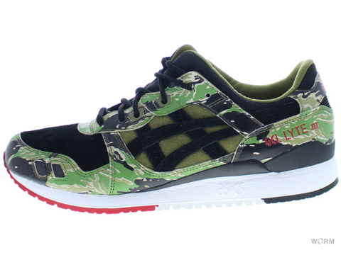 【US11】asics GEL-LYTE III hk724-8890 tiger camo/black/red