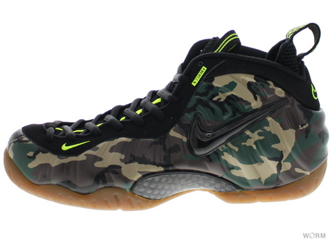 "【US10.5】NIKE AIR FOAMPOSITE PRO PRM LE ""GREEN CAMO"" 587547-300 forest/black"