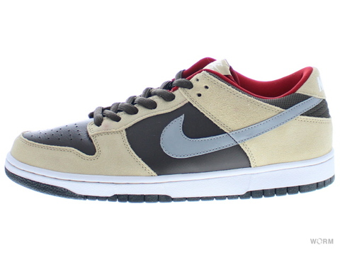【US9.5】NIKE SB DUNK LOW PREMIUM SB 313170-203 dark chocolate/mtt silver-lnn