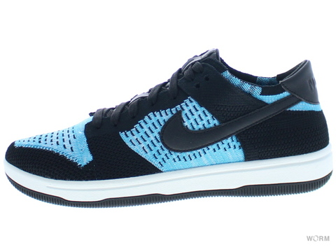 【US8】NIKE DUNK FLYKNIT 917746-001 black/chlorine blue