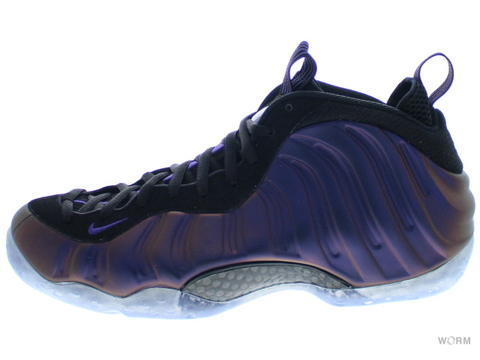 【US10.5】NIKE AIR FOAMPOSITE ONE 314996-008 black/varsity purple