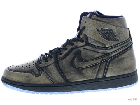 【US10.5】AIR JORDAN 1 RET HIGH OG WINGS aa2887-035 black/black-metallic gold
