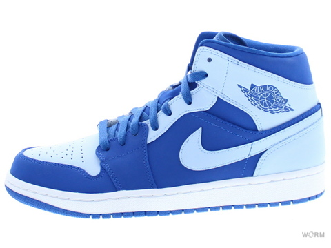 【US9】AIR JORDAN 1 MID 554724-400 team royal/ice blue-white