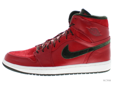 【US9.5】AIR JORDAN 1 RETRO HI PREMIER 332134-631 varsity red/dark army-white