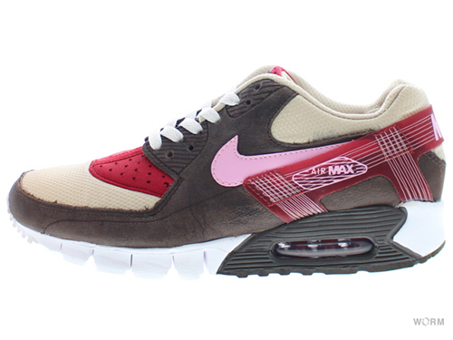 "【US8】NIKE AIR MAX 90 CURRENT HUARACHE PR ""DQM BACON"" 375576-261 overcast/perfect pink-drk cndr"