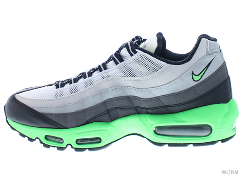 【US10】NIKE AIR MAX '95 609048-053 black/psn green-drk gry-slvr