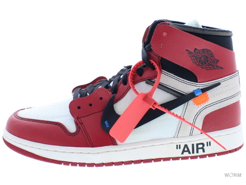 "THE 10: NIKE AIR JORDAN 1 ""OFF-WHITE"" aa3834-101 white/black-varsity red"