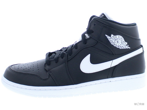 【US9】AIR JORDAN 1 MID 554724-038 black/white-white