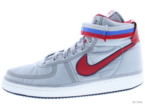 【US11】NIKE VANDAL HIGH SUPREME QS ah8652-001 metallic silver/university red